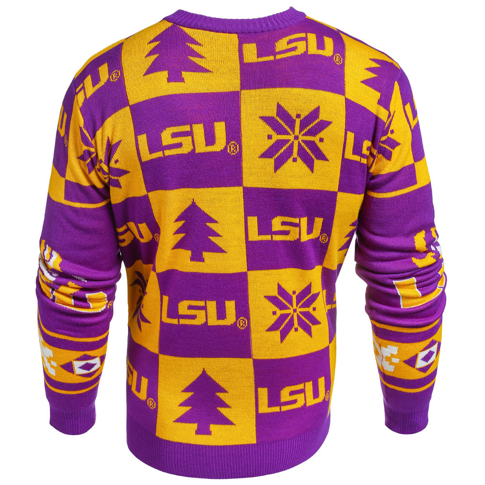 LSU Tigers Ugly Christmas Sweater Image a