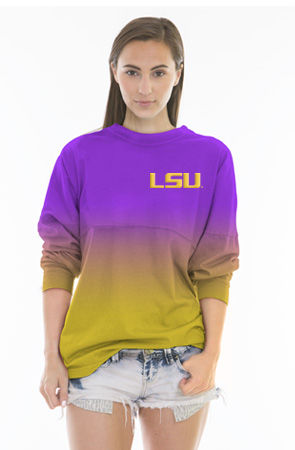 LSU Tigers Ombre Spirit Shirt Image a